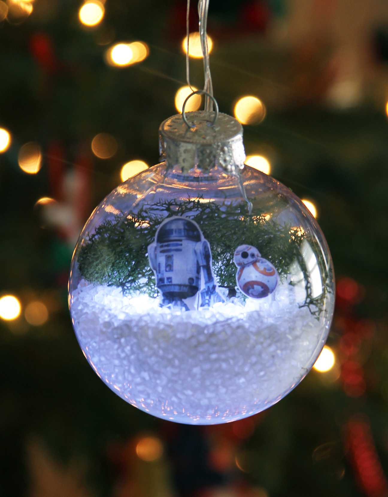 DIY Star Wars Glowing Snow Globe Holiday Ornament ...